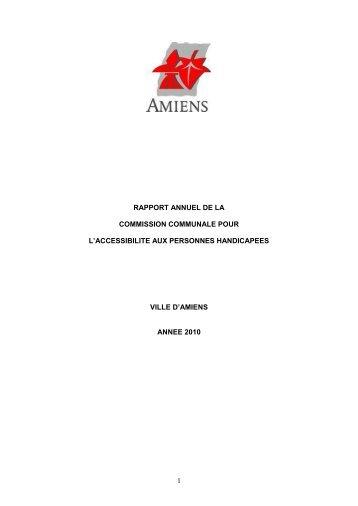 RAPPORT ANNUEL DE LA - Amiens