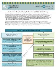 Trinity Health 403(b) Retirement Savings Plan