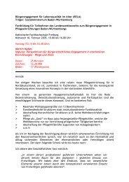 Perspektiven für Bürgerschaftliches Engagement in ... - Bela