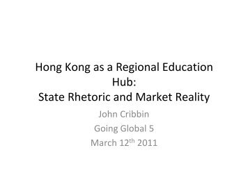 John Cribbin presentation (pdf) - Internationalising Higher Education