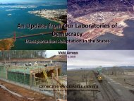 An Update from Our Laboratories of Democracy: Transportation ...