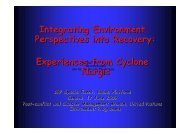 Environment and Recovery - experiences from ... - PreventionWeb