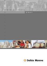 Finanční zpráva za rok 2001 ve formátu PDF - Dalkia Česká ...