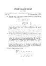 Homework 2 Solutions - Caltech