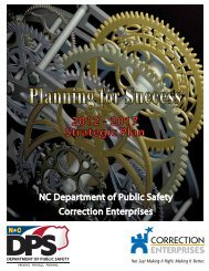 2012 - 2017 Strategic Plan - Correction Enterprises