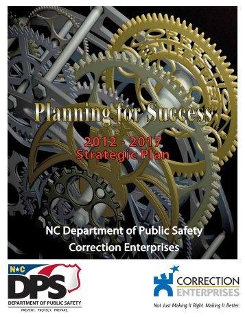 2012 - 2017 Strategic Plan - Correction Enterprises