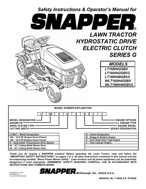 snapper mower wiring harness snapper lawn tractor hydrostatic drive electric clutch series g  snapper lawn tractor hydrostatic drive