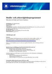 Studie- och yrkesvägledarprogrammet - Umeå universitet