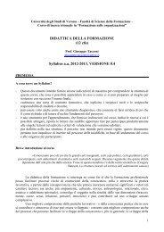 Syllabus ver.4.0 (pdf, it, 399 KB, 4/21/13) - Università degli Studi di ...