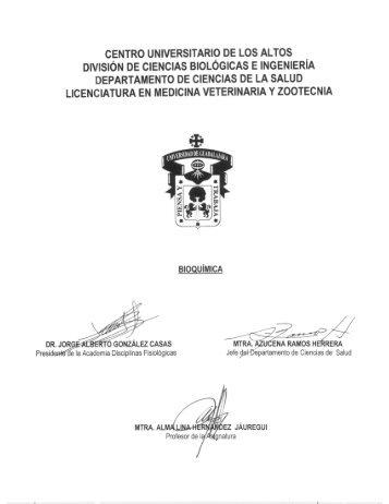 Bioquímica - Centro Universitario de los Altos - Universidad de ...