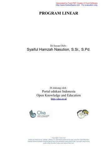 SISTEM PERTIDAKSAMAAN LINIEAR - Open Knowledge and ...