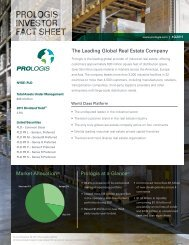 The Leading Global Real Estate Company Prologis at a ... - Vcall.com