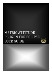 METRIC ATTITUDE PLUG-IN FOR ECLIPSE USER GUIDE - DMI