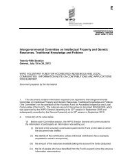 Intergovernmental Committee on Intellectual Property and ... - WIPO