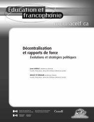 Décentralisation et rapports de force - acelf