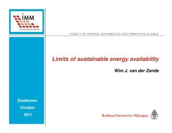 The energy issue - Eindhoven University of Technology