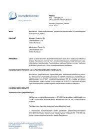 Päätös Nro 166/2012/1 Dnro LSSAVI/116/04.08/2011 Annettu ...