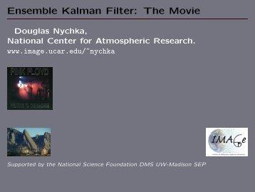 Ensemble Kalman Filter: The Movie - IMAGe