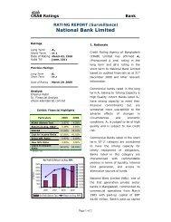 National Bank Limited - Credit Rating Agency of Bangladesh