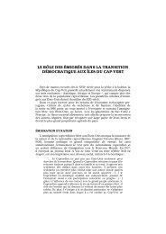 le rôle des émigrés dans la transition démocratique aux ... - Lusotopie
