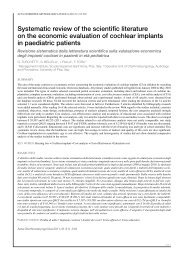 Systematic review of the scientific literature on the economic ...