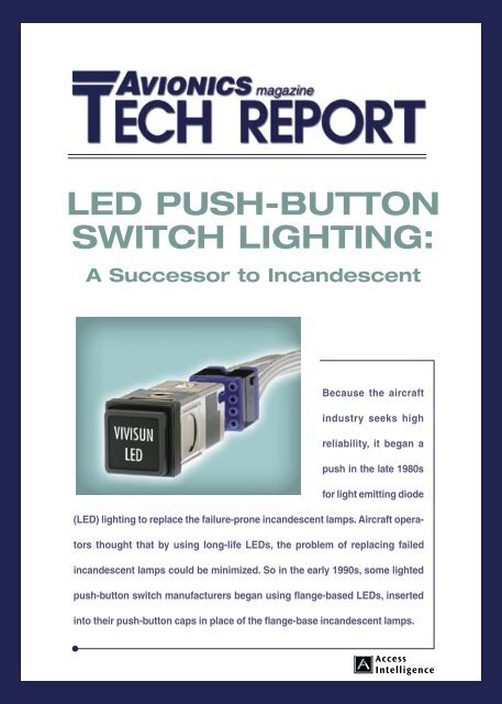 Led Push Button Switch Lighting Aviation Today