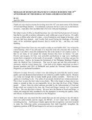 1 MESSAGE OF SECRETARY FRANCISCO T. DUQUE III ... - DOH