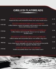 GRILLED FLATBREADS - DineOnCampus.com