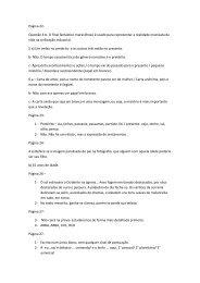Página 22- Questão 4 b- O final fantástico maravilhoso é usado para ...