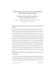 EEG decoding of semantic category reveals distributed ... - clic-cimec