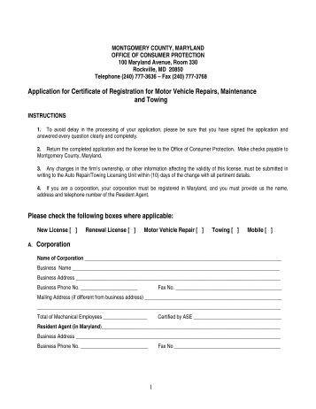 Example risk assessment motor vehicle repair promax for Motor vehicle repair license