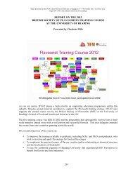Flavourist Training Course 2012 - IFEAT