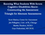 Knowing What Students with Significant Cognitive ... - NAAC