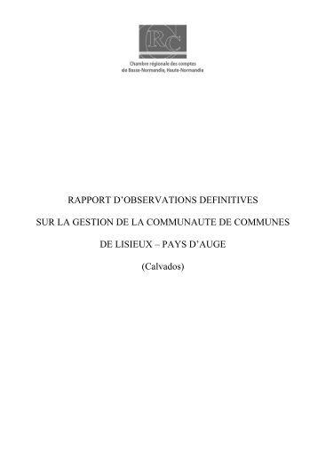 Rapport d'observations définitives (PDF, 177,19 ... - Cour des comptes