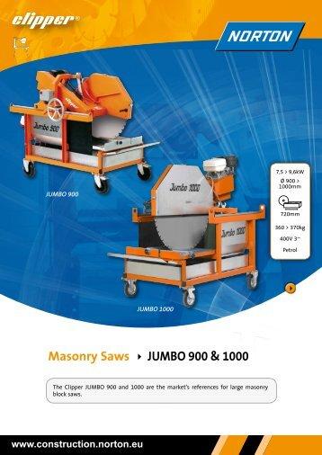 Masonry Saws JUMBO 900 & 1000 - Ramirent