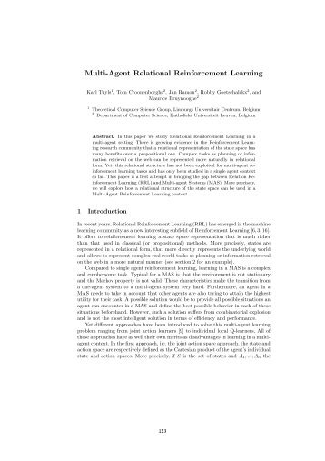 Multi-Agent Relational Reinforcement Learning