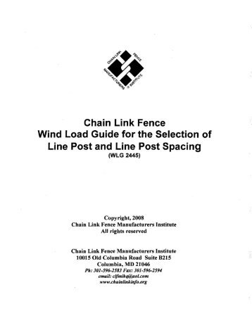 Chain Link Fence Wind Load Guide for the ... - Hoover Fence