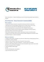Senior Researcher – Study of Generation IV materials (SUSEN)
