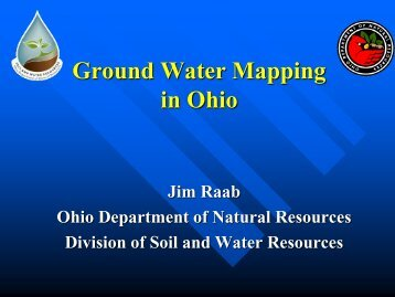 for Mapping Ground Water Systems - Ohiowater.org