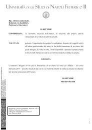 Avviso - Università degli Studi di Napoli Federico II