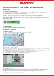 Release Notes V30.16.20 - Bernina