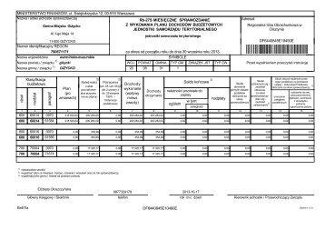 Sprawozdanie RB27S z wykonania planu dochodów budżetowych ...