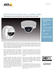 AXIS P33 Network Camera Series — Outdoor models