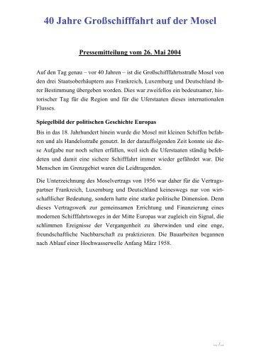 40 Jahre Großschifffahrt auf der Mosel - Wasser- und Schifffahrtsamt ...