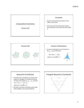 ComputaAonal Geometry Convexity Convex Hull Convex ...