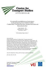 De nationella myndigheternas hantering av ... - Trafikanalys
