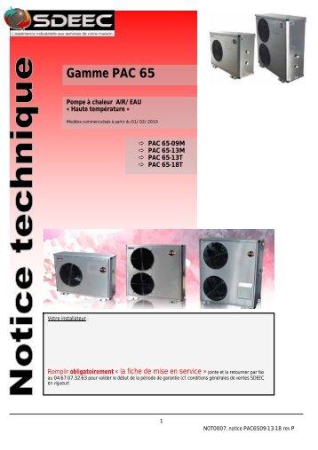 Gamme PAC 65 - Sdeec