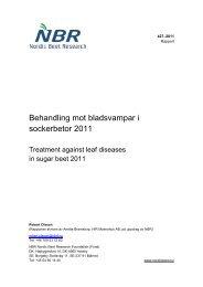 Behandling mot bladsvampar i sockerbetor 2011 - nordicbeet.nu