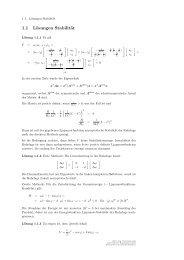 1.1 Lösungen Stabilität - Lehrstuhl für Regelungstechnik