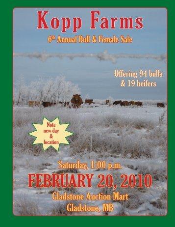 Kopp Farms 6th Annual Bull Sale - Transcon Livestock Corporation